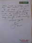 England Cricket Legend Geoff Boycott signed letter