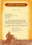 Marty Robbins signed letter